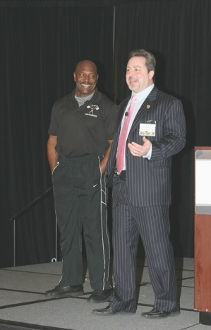 Mr Olympia Lee Haney and Dr Pete Gratale