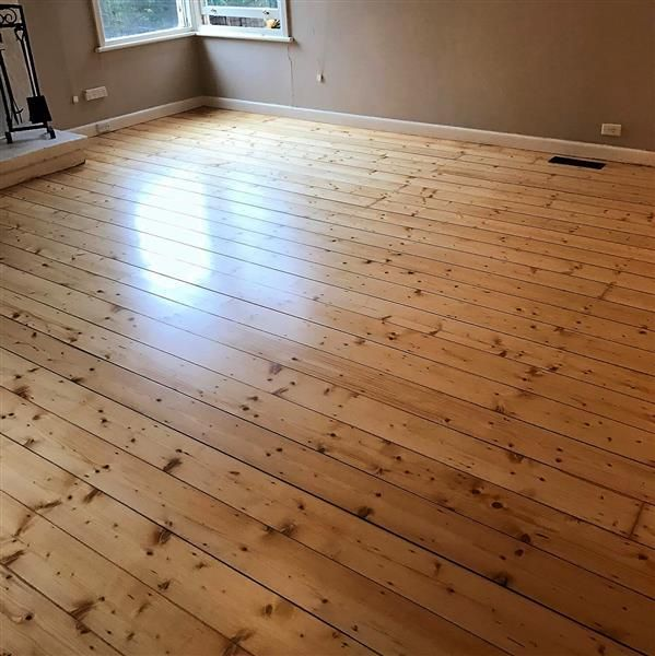 Baltic Pine floor in Beaconsfield finished in a matte