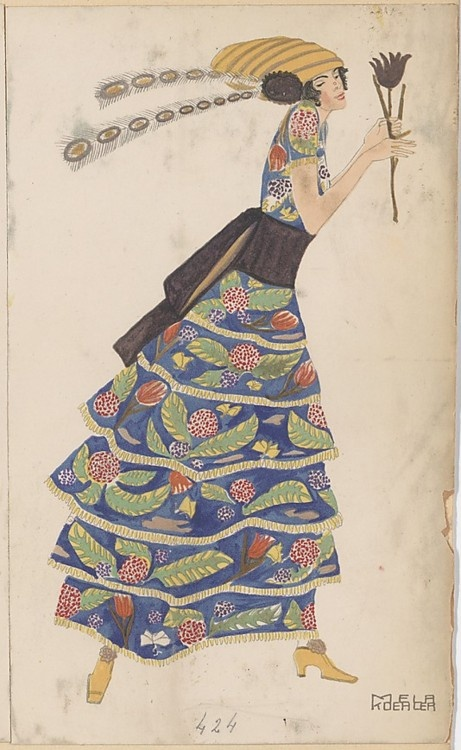 Untitled, Mela Koehler (Austrian, Vienna 1885–1960 Stockholm)    Publisher: Published by Wiener Werkstätte Date: ca. 1907/8–14 Medium: Color lithograph