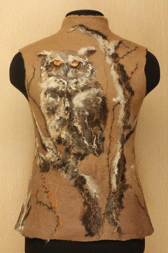 Night Watch / Felted Clothing / Vest by LybaV on Etsy