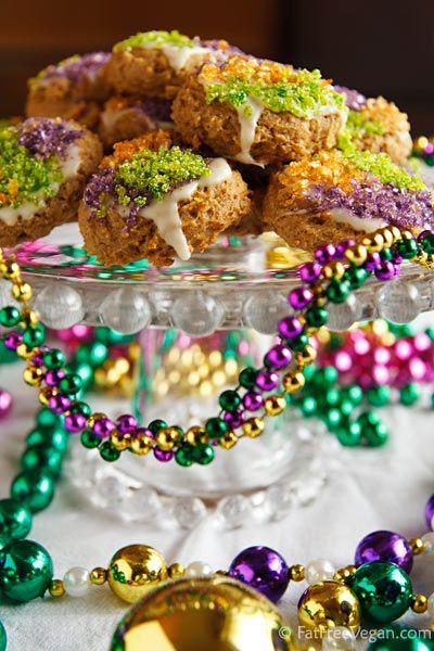 Gluten-Free King Cake Cookies. ☀CQ #glutenfree #mardisgras