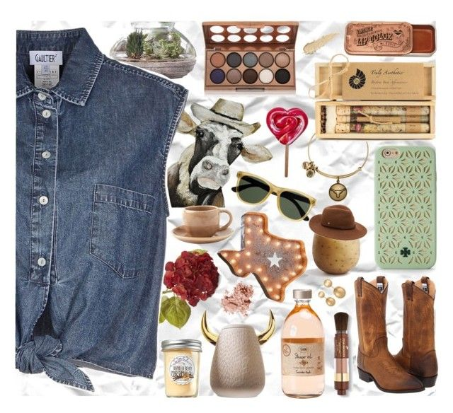 """""""#5"""" by alzbeta-zlochova ❤ liked on Polyvore featuring Evergreen, Crate and Barrel, Jean-Paul Gaultier, Bobbi Brown Cosmetics, Frye, Alex and Ani, NYX, Truly Aesthetic, Lancôme and Tory Burch"""