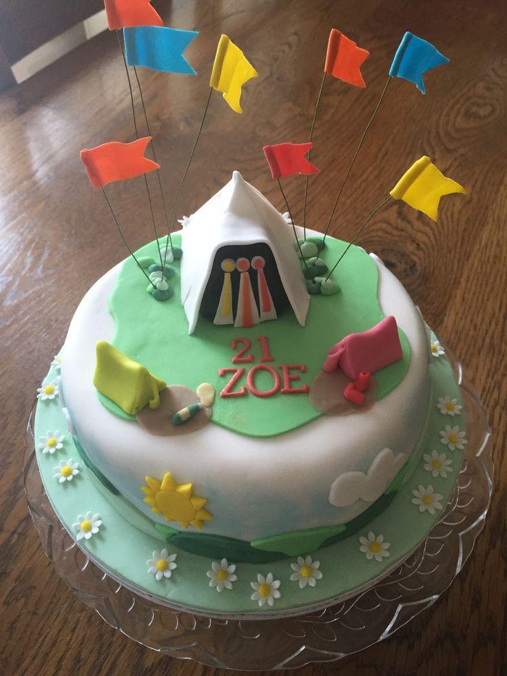 Glastonbury Birthday Cake