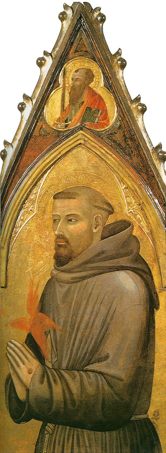 Ambrogio Lorenzetti (Siena, about 1290 - Siena, 1348)  Saint Francis  Gold and tempera on panel, 1330-1340  Museo dell�Opera del Duomo, Siena, Italy