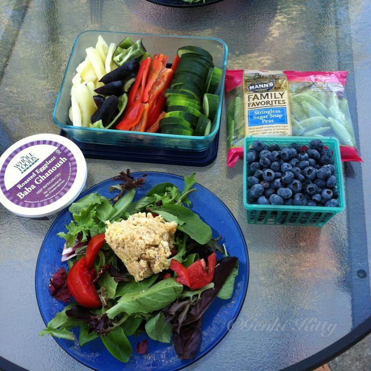 Vegan tuna salad with tons of vegetables dinner idea