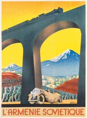 L-Armenie-Armenia-Armenian-Vintage-Europe-European-Advertisement-Travel-Poster