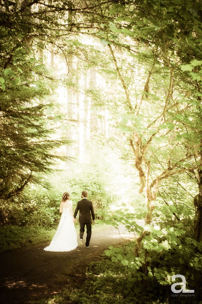 Silverton Oregon Wedding  Silver Falls State Park  Lisa