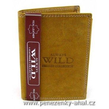 Kožená peněženka pánská značky Always Wild.