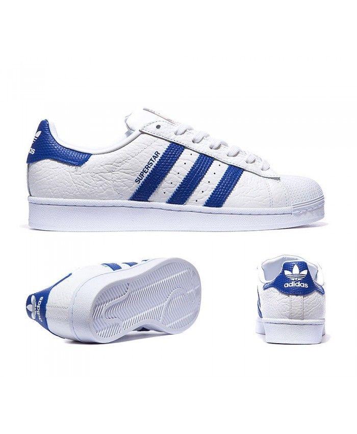 Adidas Originals Superstar Animal White And Royal Trainers Sale UK ... 44b673b75e98