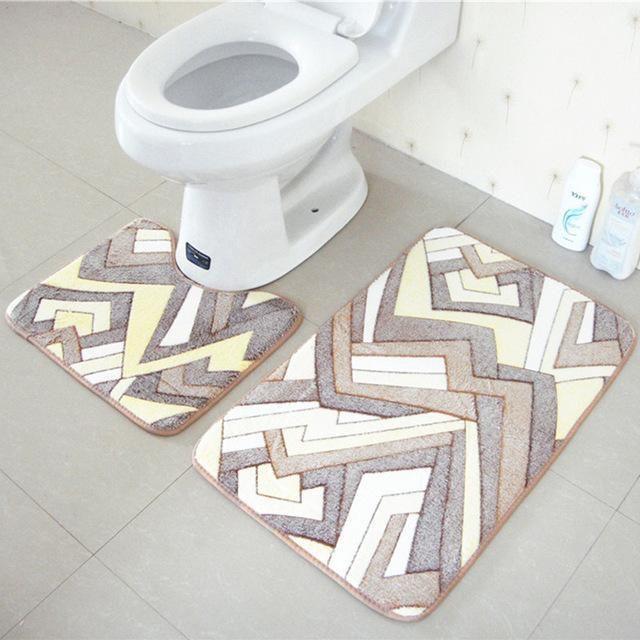 Wash Style Mechanical Wash Hand Wash Use Bedroom Commercial Decorative Prayer Outdoor Hotel Toilet Memory Foam Bathroom Rug Bathroom Bath Mats Bath Mat Sets