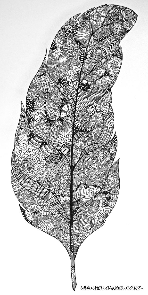 Another feather zentangle.