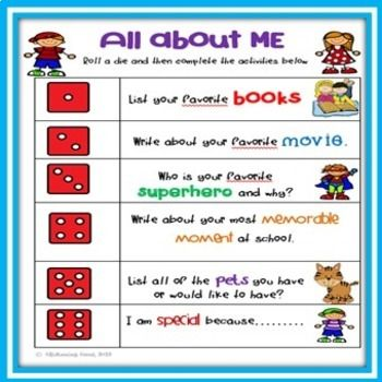 'All About Me' dice games are a great activity for first week back at school. Students can play in small groups or pairs and get to know each other. Included are 3 different roll a die games to choose from. I have also included a duplicate copy of two of the games with spelling changes to cater