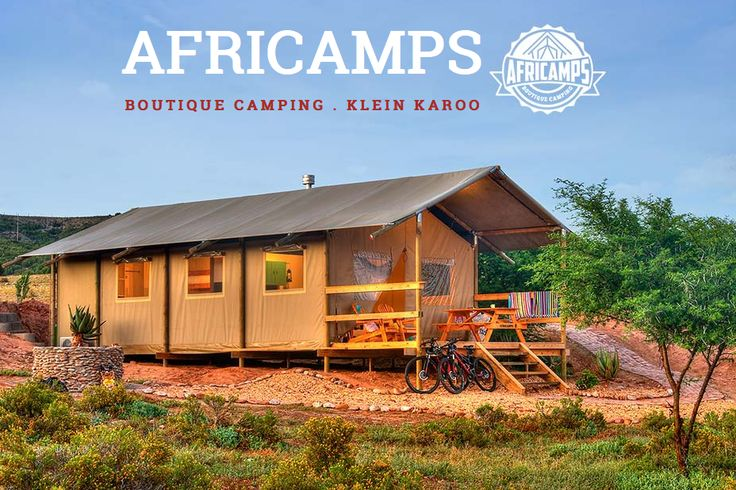 AFRICAMPS KLEIN KAROO, Oudtshoorn accommodation, Western Cape - Boutique camping set on one of the biggest Ostrich farms in South Africa. Luxury boutique tents around a water dam and surrounded by game. The 2 bedroom tents are fully equipped for self catering, all with air conditioning units and braai facility. Each sleeps 5.