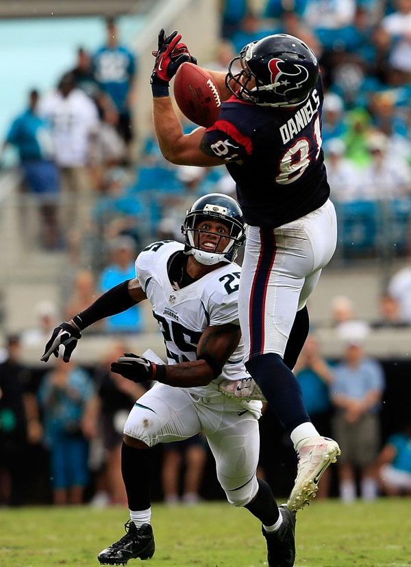Texans 2012 season highlights, Owen Daniels, vs Jaguars