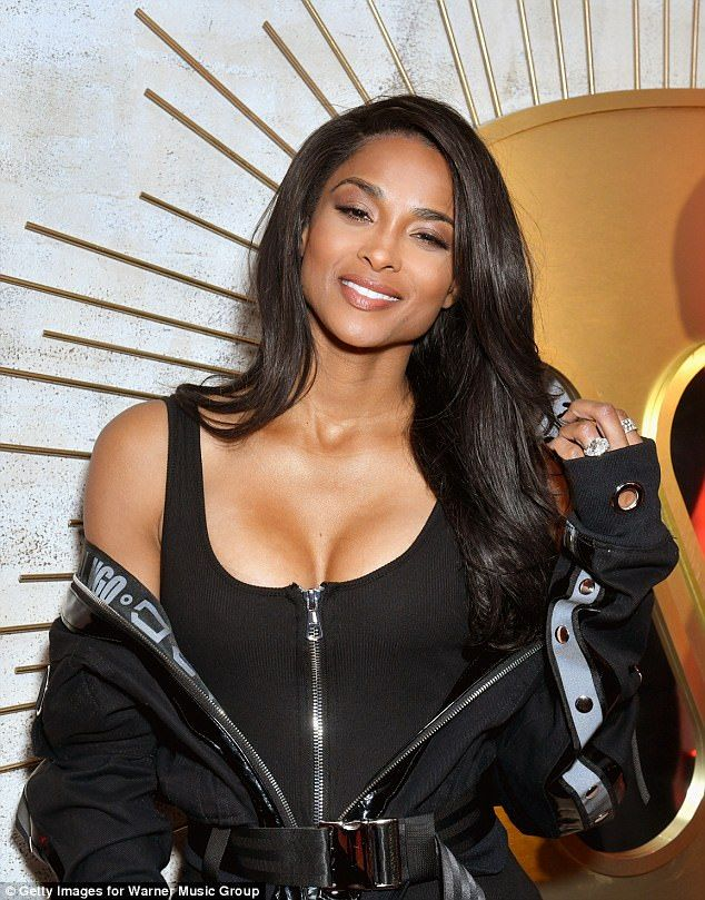 So in love:Ciara married her husband, Seattle Seahawks player Russell, in 2016...