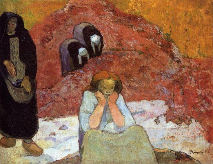 Grape Harvest in Arles by Paul Gauguin 1888