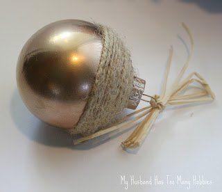 Fall Acorn Ornaments