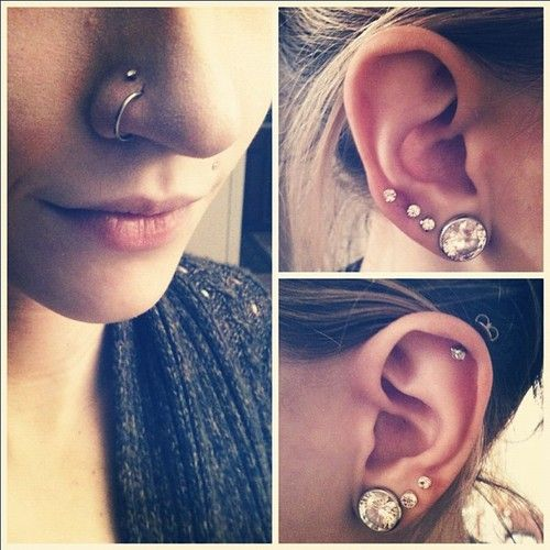 double nose piercing....totally dig it