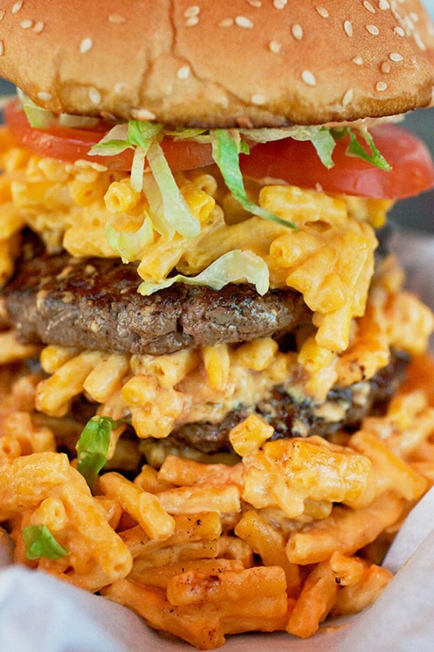 Mac 'n' Cheese Burger | The 23 Most Perfect Foods In The Universe