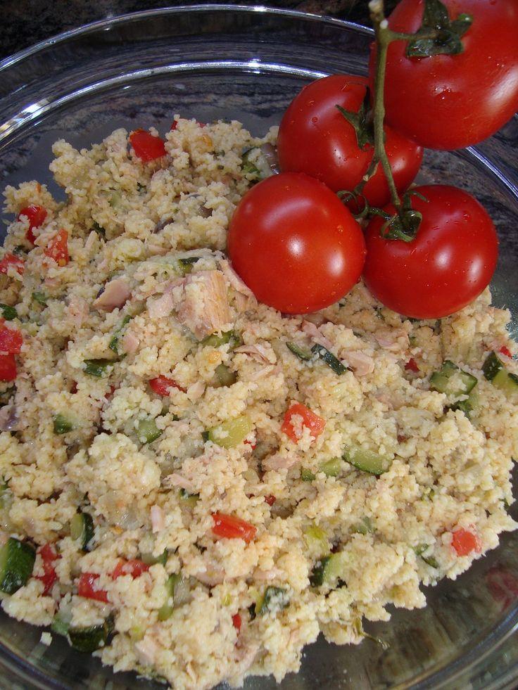 Cous cous con Tonno, Zucchine , Melanzane e Pomodorini , ricetta estiva