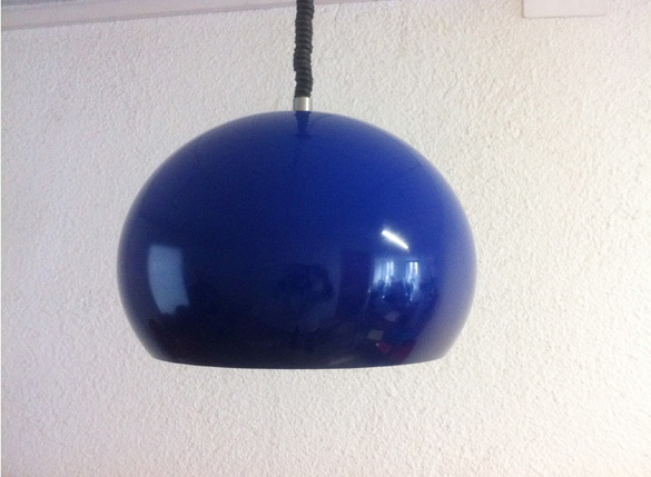 blue plastic lamp