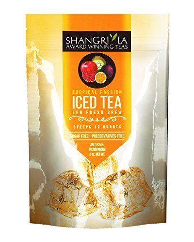 Shangri La Tea Company Iced Tea, Tropical Passion, Bag of 6, 1/2 Ounce Pouches (Packaging May Vary) *** You can get more details by clicking on the image. #coffeebrewer