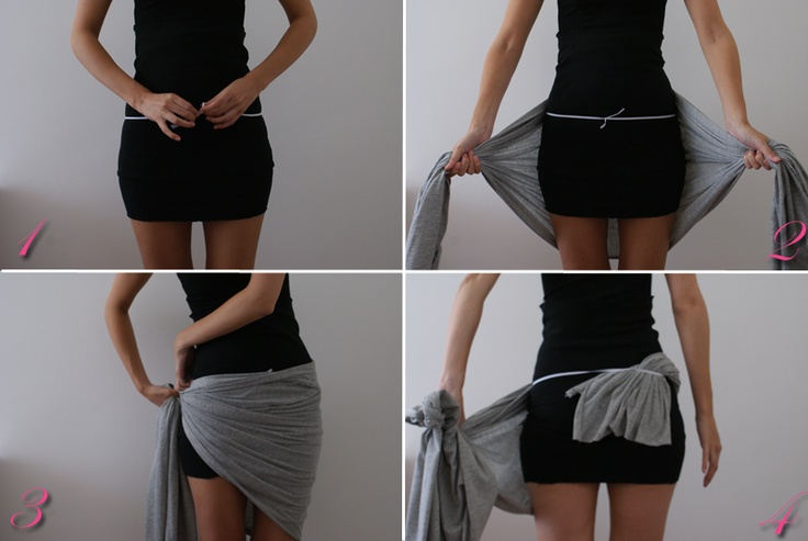 DIY scarf wrap skirt | Do-It-Yourself | Pinterest