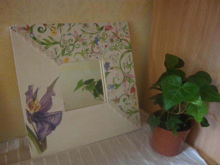 118 best images about marcos lienzos cuadros on - Espejos decorados a mano ...