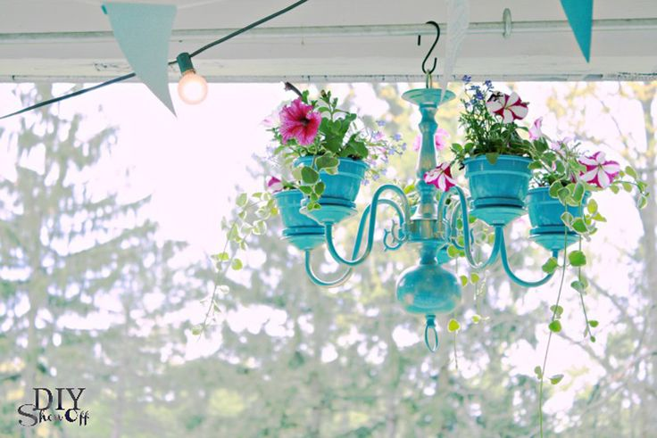Chandelier planter - 25+ May Day ideas gifts and decor - NoBiggie.net
