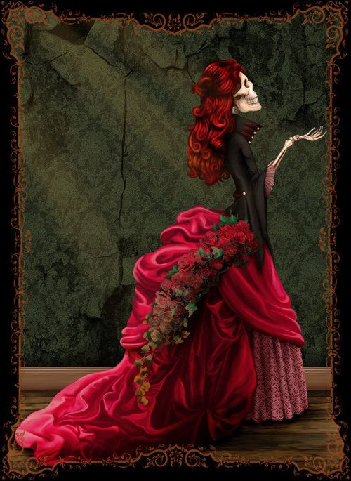 LadyPretty Skeletons, Skull, Majestic Decay, Of The, Dark Art, Dead, Lady Skeletons, Day