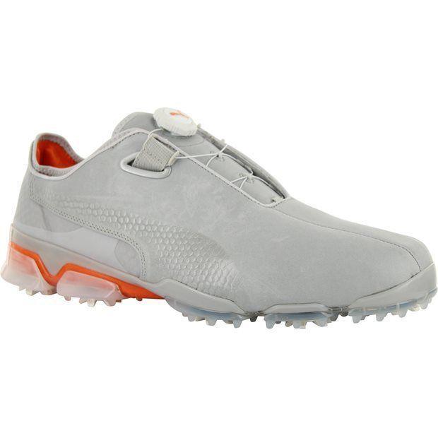 NIB Puma Titan Tour Ignite Disc Golf Shoes Grey Violet/Vibrant Orange 189412 02