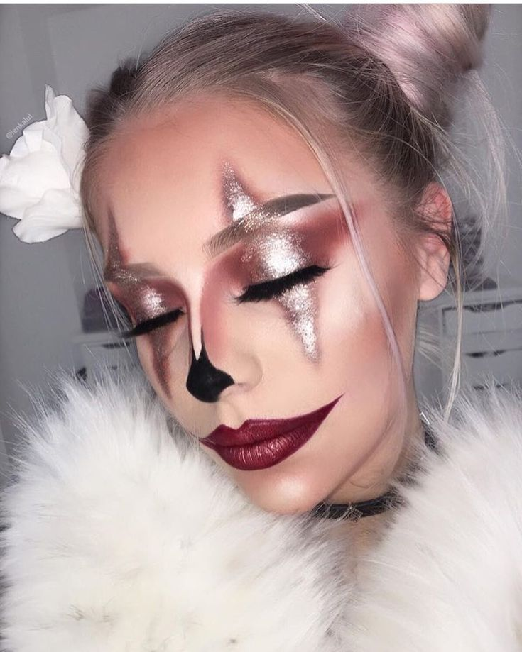 GLAM clown makeup by yiru shao ❤ What Halloween makeup look should we feature next, beauties?! Tell us in the comments!!!