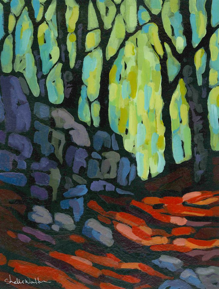 Spring Rocks Original Painting by Shelli Walters. Great colors.