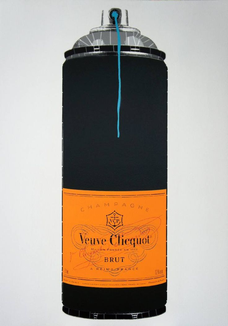 Buy Veuve Clicquot (Ed. 6 of 6), a Spray Paint on Wood by Campbell La Pun from Japan. It portrays: Food & Drink, relevant to: Pop art, spray paint, french, celebration, champagne, spray can, Veuve Clicquot, stencil art, orange Hand-Cut Stencil & Aerosol on Wood Panel. 72.8 x 103 x 3cm Edition of 6 (Ed. 6 of 6) 2016 Sides Painted White / Gloss Varnish Finish. No Framing Required. Hanging Wire Attached.