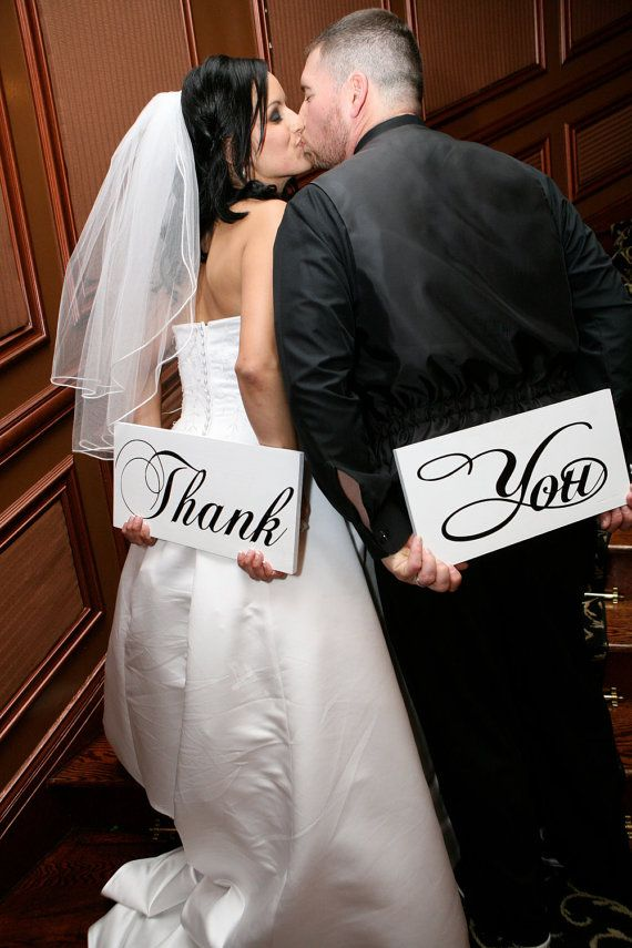 Wedding Thank You signs for you thank