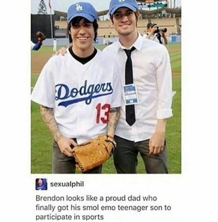 Brendon looks like a proud dad who finally got his smol emo teenager son to participate in sports | Pete Wentz | Brendon Urie | humor