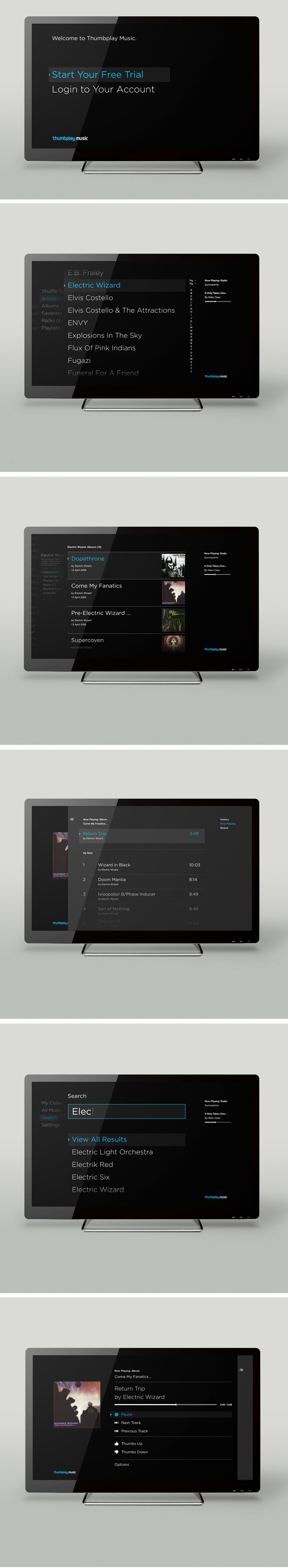 Thumbplay by method #tvinterface love this concept #webdesign