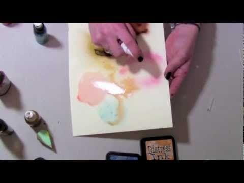 Scrapbooking tutorial - mgiełka własnej roboty - YouTube