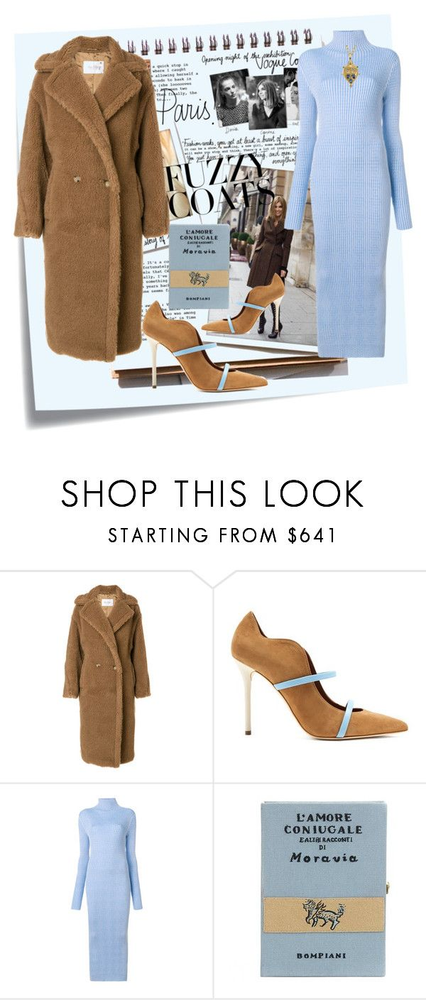 """fuzzy wuzzy"" by mikaela-foreman ❤ liked on Polyvore featuring Post-It, Garance Doré, MaxMara, Malone Souliers, Maison Margiela, Olympia Le-Tan, Temple St. Clair and fuzzycoat"