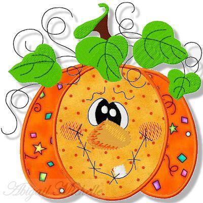 Fun Pumpkin Applique - 3 Sizes!
