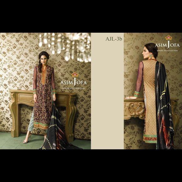 Indian Pakistani designer suit Indian Pakistani designer suit. Medium size new with tags. Asim jofa brand Asim Jofa Dresses Long Sleeve