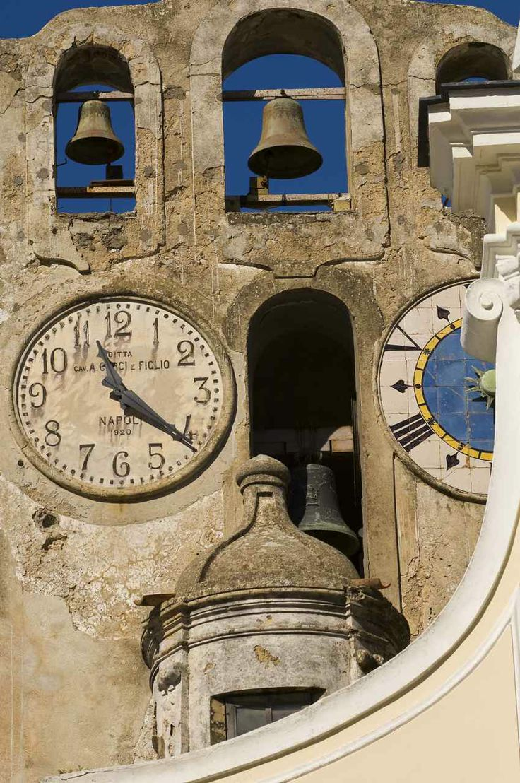 Church Clock Anacapri Italy