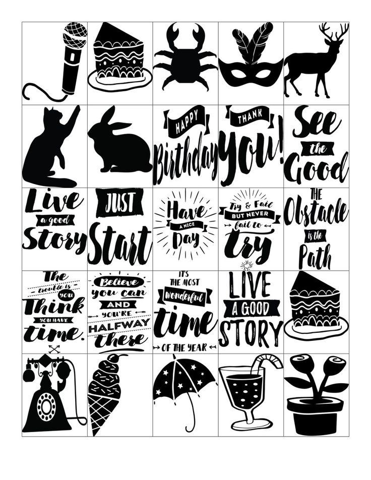 Картинки стикеры для ежедневника распечатки черно белые