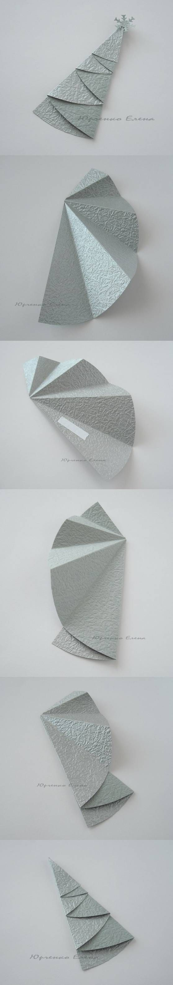 Kerstboom van papier, snel, makkelijk en gaaf effect! | Mieke Rozing