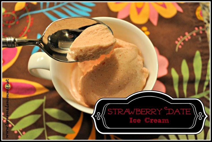 Strawberry Date Ice Cream
