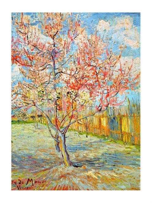 Peach Tree in Bloom at Arles, c.1888 Giclee by Vincent van Gogh - Art.com