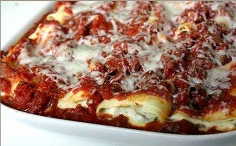 Ιταλική συνταγή: Manicotti με κιμά και σπανάκι