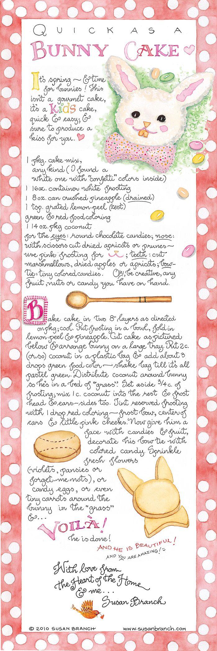 BUNNY CAKE ♥ New Willard Soon! - Susan Branch Blog