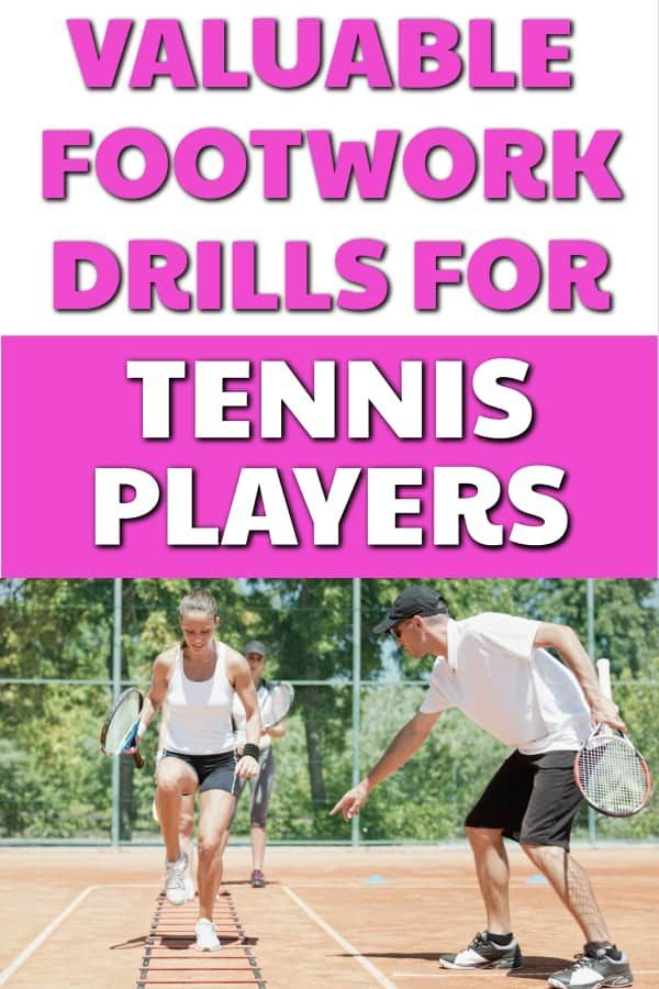 Tennis Drills For Beginner Intermediate And Advanced Tennis Players These Tennis Footwork Drills Will Help Improv Tennis Players Tennis Serve Tennis Drills