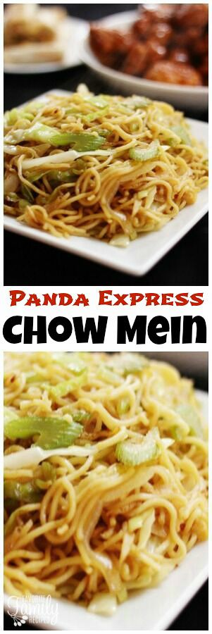This Panda Express Chow Mein recipe is so easy to make and tastes exactly like the Panda Express side dish. Have Panda at home for a fraction of the price! via @favfamilyrecipz